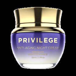 Privilege verjüngende Nachtcreme für Gesicht und Hals mit Kaffeebohnenextrakt / Privilege Anti-Aging Night Cream